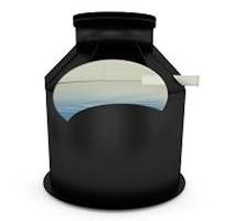 Plastové PP samonosná nadzemná nádrž na pitnú vodu kruhová