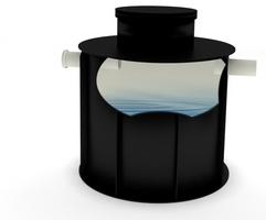 Plastové PP nádrže na úžitkovú vodu nesamonosné kruhové
